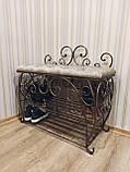 Кованая банкетка, пуф для прихожей, фото 2