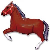 Фольга большая Конь темно-коричневый 901625