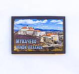 Магнітик дерев'яний Мукачево Замок, фото 2