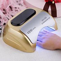 Гибридная лампа для маникюра 48W, Лампа для сушки ногтей, CCFL УФ сушилка, Сушка для маникюра! Лучшая цена