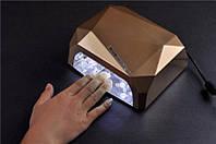 Гибридная лампа для ногтей CCF+ LED 36 Вт DIAMOND, Лампа для сушки лака и геля, Маникюрная лампа сушилка! Лучшая цена