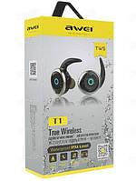 Наушники MDR T1 + BT Awei, Стереогарнитура беспроводная, Гарнитура с встроенным микрофоном, Наушники блютуз! Лучшая цена