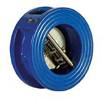 Клапан обратный межфланцевый двустворчатый 100мм РУ16