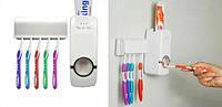 Держатель с дозатором для зубных щёток, Диспенсер для зубной пасты, Настенный дозатор пасты с держателем!
