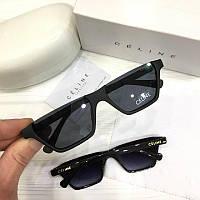 Жіночі сонцезахисні окуляри вузькі сай-фай Celine репліка чорні