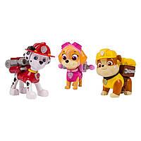 Spin Master Щенячий патруль Маршал, Скай и Крепыш Nickelodeon Paw Patrol - Action Pack Pups 3pk Figure Set