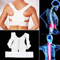 Магнитный корректор осанки для спины POWER Magnetic, Ортопедический корсет, Корсет для спины, Бандажный корсет! Лучшая цена