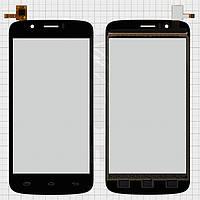 Сенсорный экран (touchscreen) для Prestigio MultiPhone 5504 Duo, черный, оригинал