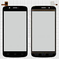 Touchscreen (сенсорный экран) для Prestigio MultiPhone 5504 Duo, черный, оригинал
