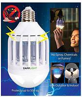 Светодиодная лампочка-уничтожитель комаров 2 в 1 ZappLight! Лучшая цена