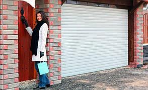 Ворота гаражні ролетні 3000*2500,ламель 77мм з пружинно-інерційним механізмом і ригельним замком, фото 2