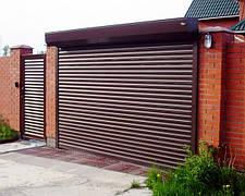 Ворота гаражные роллетные 3000*2500,ламель 77мм с пружинно-инерционным механизмом и ригельным замком