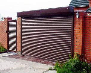 Ворота гаражные роллетные 3000*2500,ламель 77мм с пружинно-инерционным механизмом и ригельным замком, фото 2