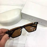 Жіночі сонцезахисні окуляри вузькі сай-фай Celine репліка коричневі