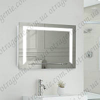 Зеркало с led подсветкой на 5 Вт и полкой 800х600 | дзеркало з led підсвічуванням