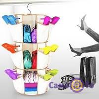 Система хранения одежды и обуви Smart Carousel Organizer на 3 ряда! Лучшая цена