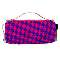 Беспроводная портативная влагозащищенная стерео колонка Hopestar H36 Mini Красная с принтом! Лучшая цена