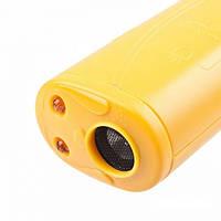 Ультразвуковой отпугиватель собак c фонарем AD-100 yellow! Хит продаж