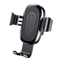 Автодержатель-зарядка Baseus Wireless Charger Gravity Car Mount black WXYL-01! Хит продаж