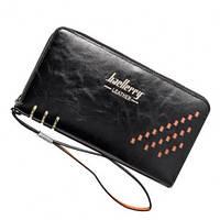 Клатч мужской Кошелек портмоне Baellerry Leather 3 W009 Black Черный! Хит продаж