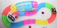 Детский игрушечный трек для машинок на пульте управления DAZZLE TRACKS 187 деталей   конструктор трасса! Хит