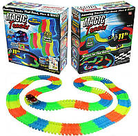 Magic Tracks гнущий светящийся трек 220 деталей, Меджик трек гоночная трасса, конструктор - подарок для детей! Топ Продаж