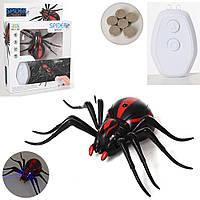 Радиоуправляемый черный паук 1388 на пульте управления   игрушка на радиоуправлении! Хит продаж