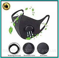 Угольная маска Pitta Mask Маска защитная, черная FFP1 / Респиратор защитный + Подарок c клапаном ORIGINAL