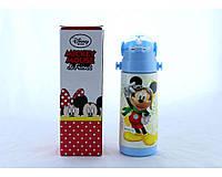 Детский термос Микки Маус с трубочкой zk g 603 350мл Синий, Disney Mickey Mouse 350ml Blue! Хит продаж