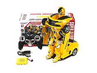 Радиоуправляемая машина-трансформер Gesture-Induced Strain Желтая! Хит продаж