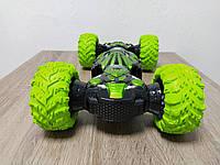 Радиоуправляемая трюковая машина вездеход Champions 40см Зелёная! Хит продаж