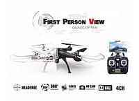 Радиоуправляемый квадрокоптер Syma X5SW-1 Black, White HD+ FPV с HD WI-FI камерой на пульте управления! Хит продаж