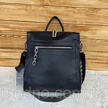 Жіночий міський шкіряний рюкзак з заклепками Polina & Eiterou