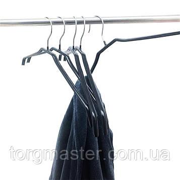 Вешалки металлические силиконовые черного цвета, 44 см
