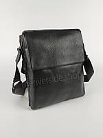 Классическая мужская сумка через плечо из натуральной кожи 29*23 см