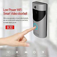 Домофон SMART DOORBELL wifi B30 1080p, Беспроводной дверной домофон, Видеодомофон, Домофон с камерой! Хит продаж