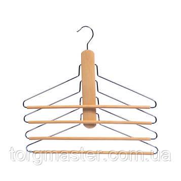 Деревянные металлические плечики лестница, 40см