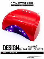 УФ лампа UV LED SUN5X Lilly на 36 Вт, Гель лампа, Ультрафиолетовая лампа, Уф лампа для ногтей, uv лампа! Хит продаж