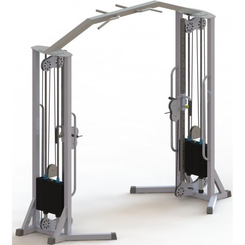Тренажер для кінезітерапії домашній з регульованими блоками (МТБ-3) стек 100 кг, рама 60х40 мм