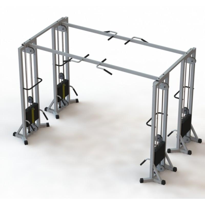 Тренажер для кінезітерапії спарений з регульованим блоком (МТБ-4) стек 60 кг, рама 60х40 мм