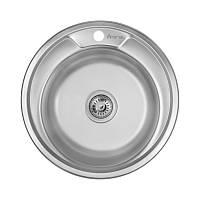 Мийка для кухні кругла Imperial 490-A Polish нержавійка