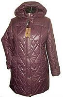 Куртка женская зимняя большого размера - ЛД 38-1 лиловый