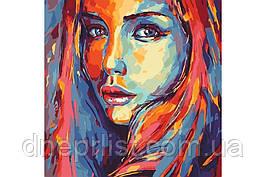 """Картина по номерам """"Яркий портрет"""", 40х40 см"""