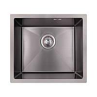 Мийка для кухні чорна Сатин Imperial Handmade нержавіюча сталь 220х430х480 мм інтегрована