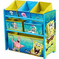 Органайзер для игрушек с ящиками Спанч Боб Delta Nickelodeon SpongeBob SquarePants Multi-Bin Toy Organizer