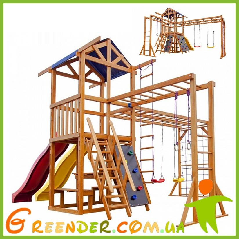 Игровой комплекс горка и качели Babyland-12