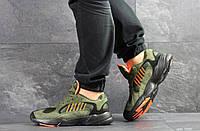 Кроссовки Adidas Yung, темно-зеленые, 41р. по стельке 26,5см