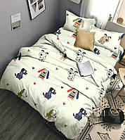 """Комплект постельного белья """"Арчи лайт"""", бязь (Полуторный на резинке)"""