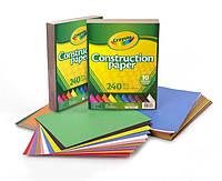 Crayola цветная бумага крайола 240 листов Construction Paper 240 Pieces набор цветной бумаги США