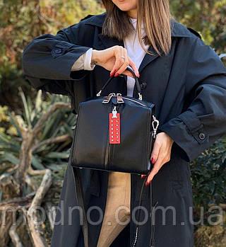 Жіноча шкіряна сумка з двома ремінцями Polina & Eiterou